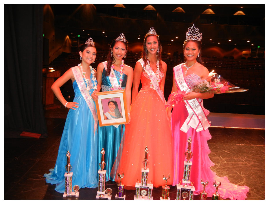 Miss Hawaii Jr. Teen Runner Ups and Winner, Isabella Mau, Courtney