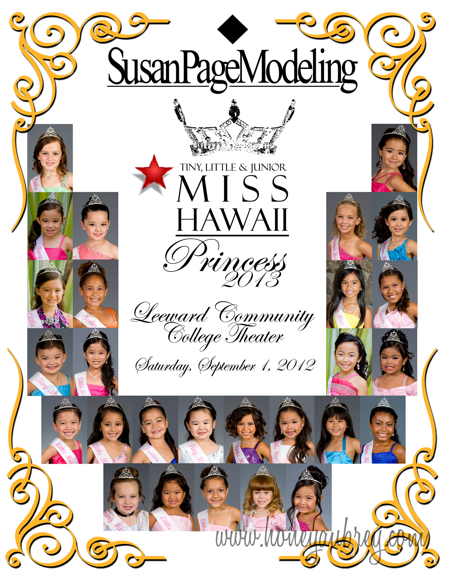 Miss, Little Miss, and Junior Miss Hawaii Princess Contestants 2013