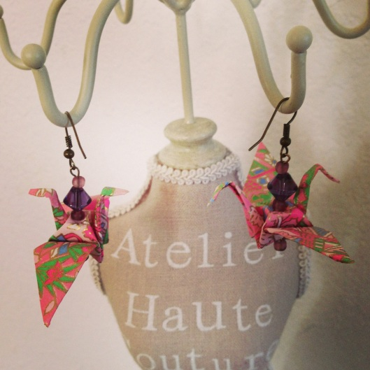 papercrane earrings